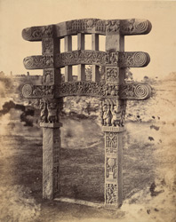 General view of restored small gateway, Sanchi Tope 10031363